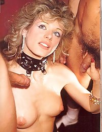 Kinky blonde seventies lady gets filled up by two cocks